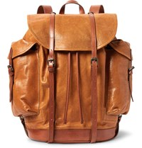 Dries Van Noten Cross Grain Leather Backpack Tan