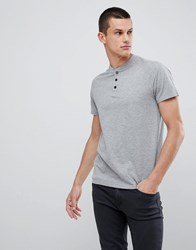 Kiomi T Shirt In Light Grey With Popper Detail Light Grey