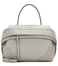 Tod's Wave Small Leather Tote Grey