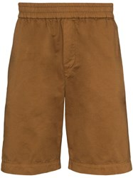 Sunspel Elasticated Cotton Shorts Brown