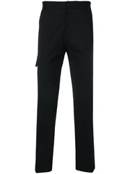 Versace Straight Leg Trousers Black