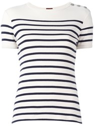 Jean Paul Gaultier Vintage Sailor Striped T Shirt White