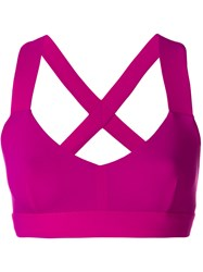 No Ka' Oi Crossback Sports Bra Pink And Purple