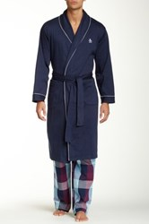Original Penguin Long Sleeve Robe Blue