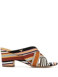 Tory Burch Graham Striped Mules Multicolour