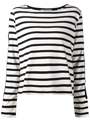 Won Hundred Long Sleeve Striped Top White