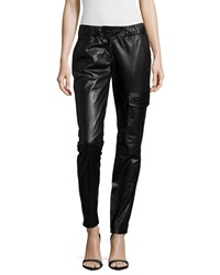 Kaufman Franco Paper Leather Skinny Fit Pants Onyx