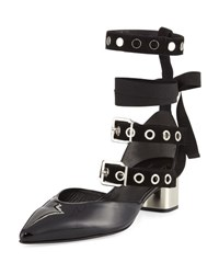 Robert Clergerie Susa Patent Buckle Strap Pump Black