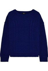 Line Sophia Ribbed Wool And Cashmere Blend Sweater Royal Blue