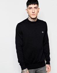 Fred Perry Sweater With Crew Neck Black