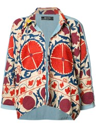 All Things Mochi Printed Oversized Cardigan
