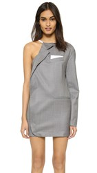 Jacquemus Half Jacket Dress Grey Striped White