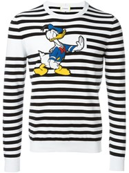 Iceberg Donal Duck Patch Striped Jumper Black