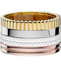 Boucheron Quatre 18Ct White Yellow And Pink Gold And Ceramic Ring