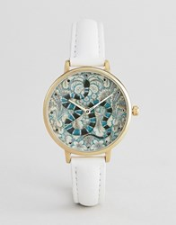 Asos Design Embroidered Baroque Snake Watch Multi