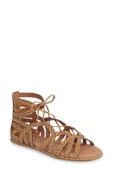 Gentle Souls Women's 'Break My Heart 3' Cage Sandal Natural Combo