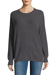 Cashmere Saks Fifth Avenue Pullover With Zippers Derby Grey