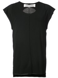 Individual Sentiments Back Cutout Vest Black