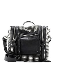 Mcq By Alexander Mcqueen Embellished Leather Shoulder Bag Black