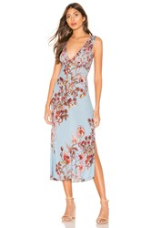 Free People Never Too Late Maxi Dress Blue