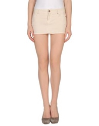 Reign Denim Skirts Beige