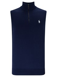 Polo Ralph Lauren Golf By Sleeveless Zip Neck Vest French Navy