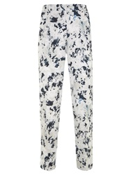 Mint Velvet Teagan Print Cotton Capri Trousers Multi