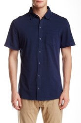 Spenglish Short Sleeve Snap Button Shirt Blue