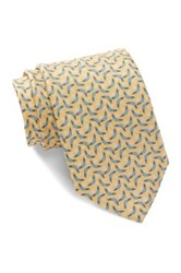 Tailorbyrd Boomerang Silk Tie Yellow
