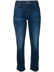 Paige Cropped Jeans Blue