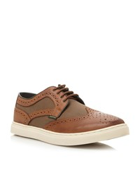 Barbour Flastaff Lace Up Trainers Tan