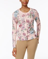 Charter Club Floral Print Cardigan Only At Macy's Light Blush Combo