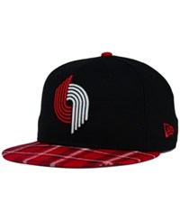 New Era Portland Trail Blazers Plaid 9Fifty Snapback Cap