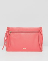 Paul Costelloe Real Leather Tassel Cross Body Pink