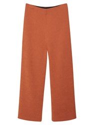 Mango Cropped Palazzo Trousers Medium Brown