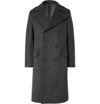 Private White V.C. Woolmark Double Breasted Wool And Cashmere Blend Coat Charcoal