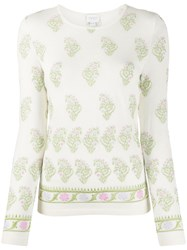 Giambattista Valli Knitted Floral Embroidered Jumper 60