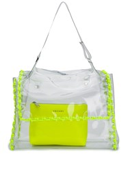 Orciani Fluo Clear Tote Yellow