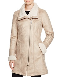 7 For All Mankind Faux Shearling Coat Cream
