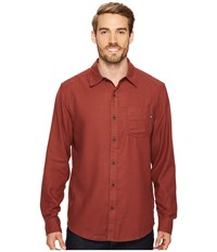 Marmot Hobson Flannel Long Sleeve Shirt Redwood Heather Men's Long Sleeve Button Up Brown