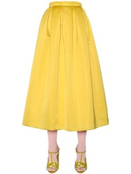 Rochas High Waisted Duchesse Flared Skirt
