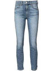 3X1 Ripped Detail Skinny Jeans Blue