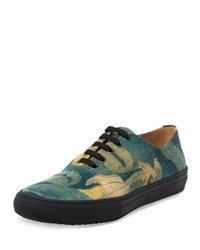 Dries Van Noten Cotton Low Top Sneaker Gray Dark Gray
