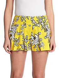 Red Valentino Bouquet Print Pleated Skort Mimosa