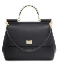 Dolce And Gabbana Exclusive To Mytheresa.Com Miss Sicily Embellished Leather Tote Black