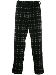 Ann Demeulemeester Check Print Trousers Black