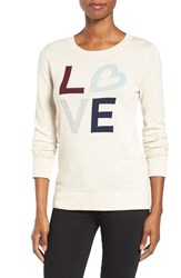 Halogenr Women's Halogen Graphic Pullover Oatmeal Love