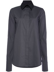 Vera Wang Long Sleeve Fitted Shirt Grey