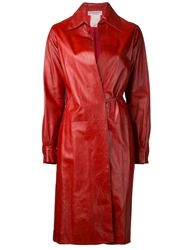 Yves Saint Laurent Vintage Long Coat Red