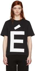 Etudes Studio Ssense Exclusive Black Page Accent T Shirt